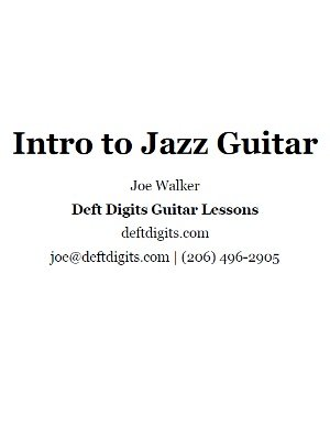 Intro to Jazz Guitar
