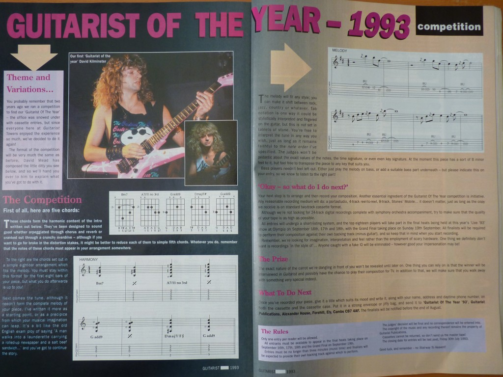 Guitarist Magazine Guitarist of the Year Competition 1993