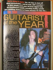 Guthrie Govan Guitarist of the Year 1993