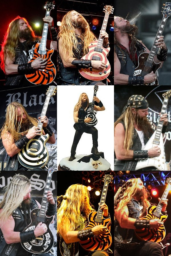 Zakk Wylde Solo Collage