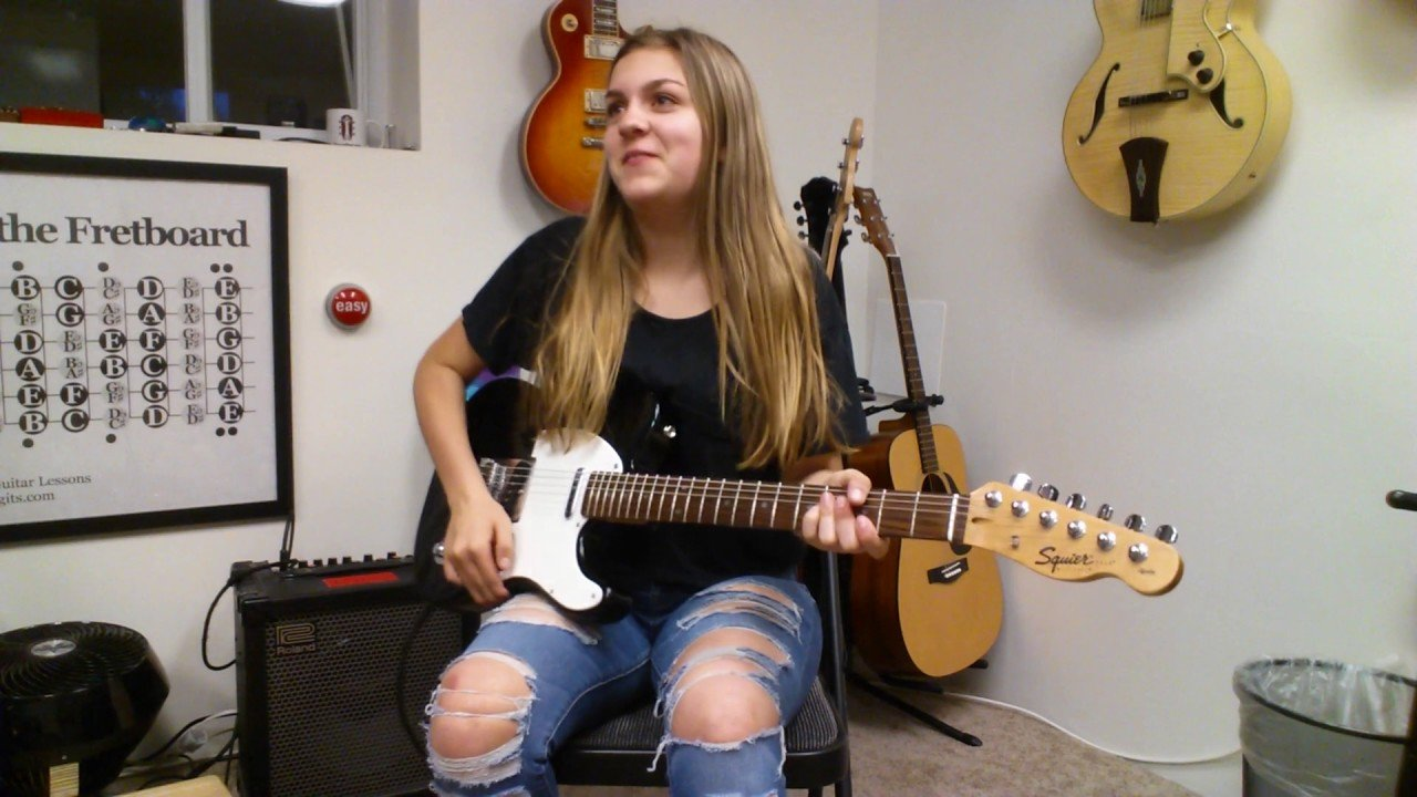 Student Of The Month Caroline Deft Digits Guitar Lessons